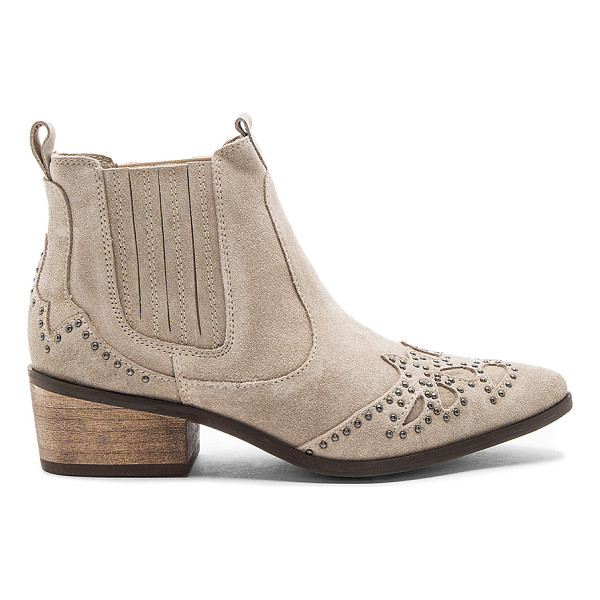 MATISSE Backstage Booties - Suede upper with rubber sole. Elasticized pull on styling....