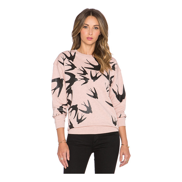 MCQ BY ALEXANDER MCQUEEN Classic sweatshirt - 100% cotton. Graphic print throughout. Ribbed trim....
