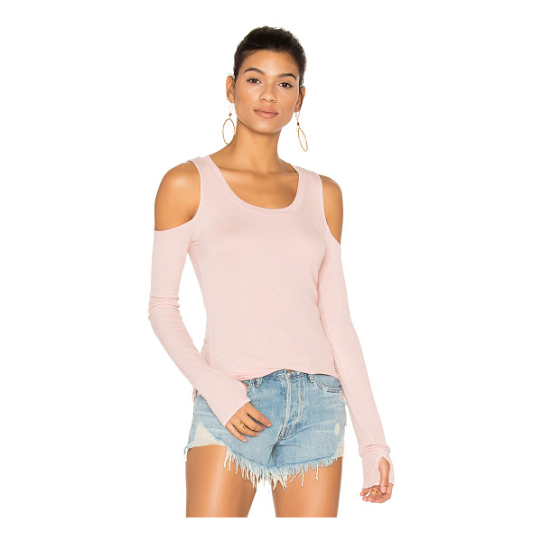MICHAEL LAUREN Filippo Open Shoulder Top - 94% rayon 6% spandex. Dry clean only. Shoulder cut-outs....