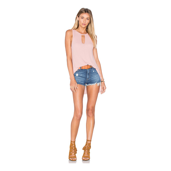 MICHAEL LAUREN Gustavo Tank - 94% rayon 6% spandex. Dry clean recommended. Neckline...