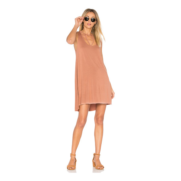 MICHAEL LAUREN Mackay Tank Dress - 94% rayon 6% spandex. Dry clean recommended. Unlined....