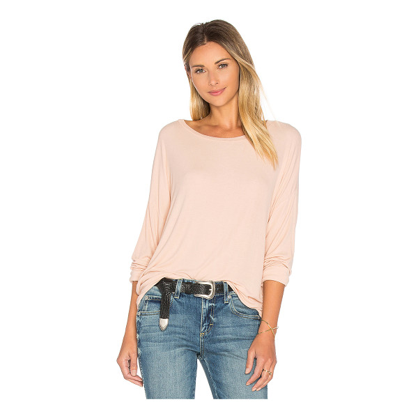 MICHAEL LAUREN Maximo Drop Shoulder Top - 94% rayon 6% spandex. Dry clean recommended. Rib knit...