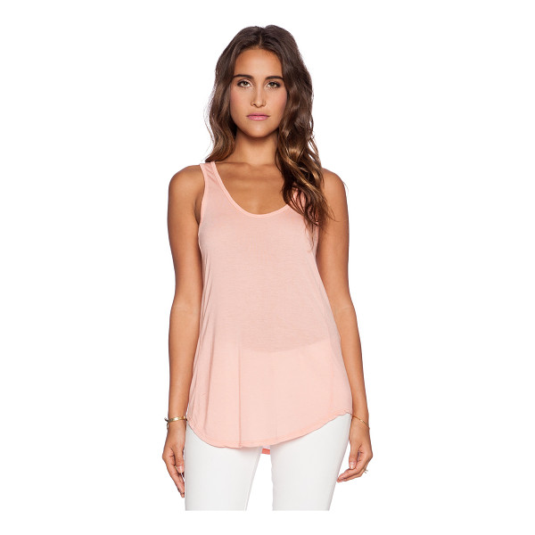 MICHAEL LAUREN Ray tank - 100% micro modal. Dry clean recommended. MLAU-WS287. ML...
