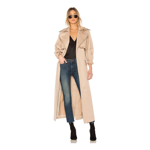 MICHAEL LO SORDO Relaxed Cocoon Trench With Contrast Stitch - 100% cotton. Dry clean only. Open front. Side flap pockets....