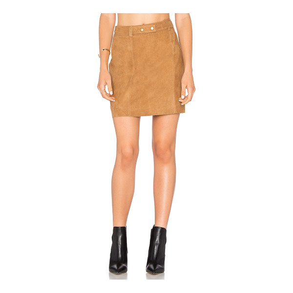 MICHAEL STARS A Line Mini Skirt - Self: 100% leatherLining: Poly blend. Professional leather...