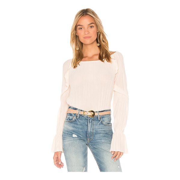 MICHAEL STARS Frill Sleeve Top - Self: 100% polyLining: 96% rayon 4% spandex. Dry clean...