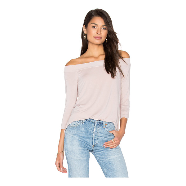 MICHAEL STARS Off Shoulder Tee - 95% rayon 5% spandex. Jersey knit fabric. MICH-WS3647....