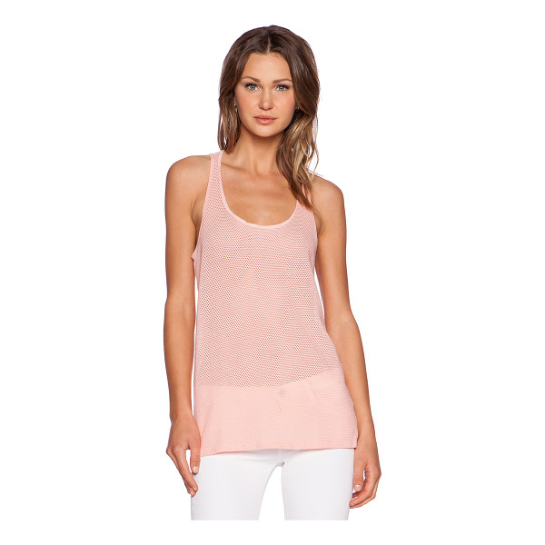 MICHAEL STARS Racerback mesh tank - 98% cotton 2% lycra. Perforated fabric. MICH-WS3478. 6860....