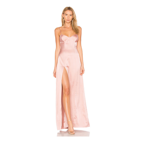 MICHELLE MASON Bustier Gown - Self & Lining: 95% silk 5% lycra. Dry clean only. Fully...