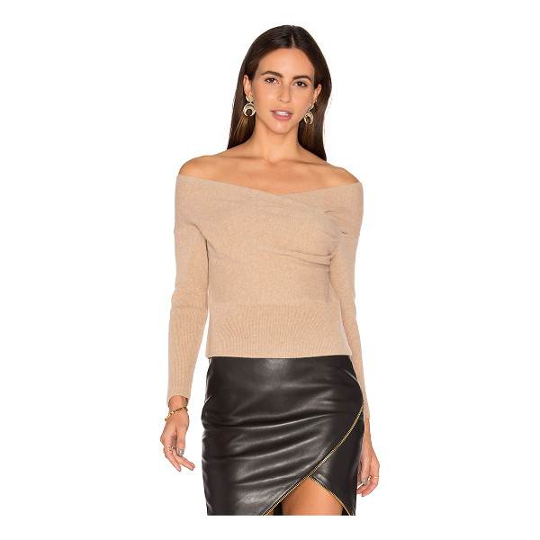 MICHELLE MASON Cross Wrap Sweater - 70% merino wool 30% cashmere. Dry clean only. Wrap front....