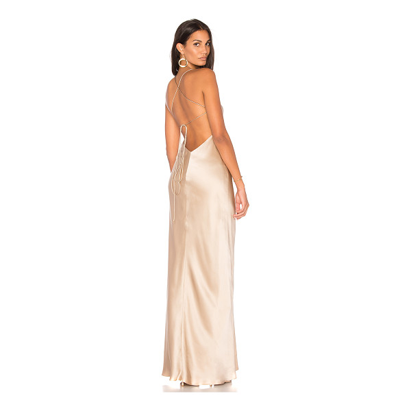 MICHELLE MASON Cut Out Gown - Self & Lining: 100% silk. Dry clean only. Fully lined....