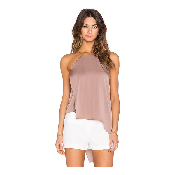 MILLY Ciara tank - 92% silk 8% spandex. Dry clean only. Fabric overlay....