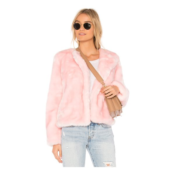 MILLY Faux Fur Jacket - Faux Fur: 80% acrylic 20% polyLining: 96% poly 4% spandex....