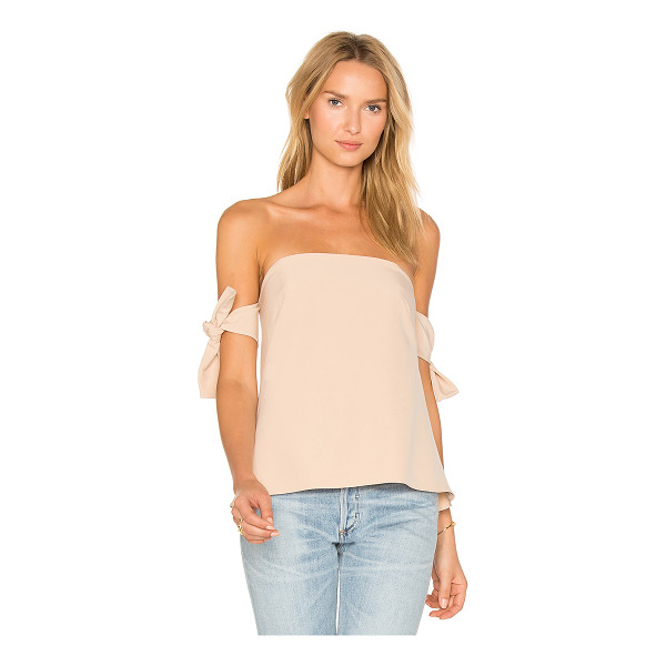 MILLY Jade Top - Poly blend. Dry clean only. Plastic bodice boning. Sleeve...