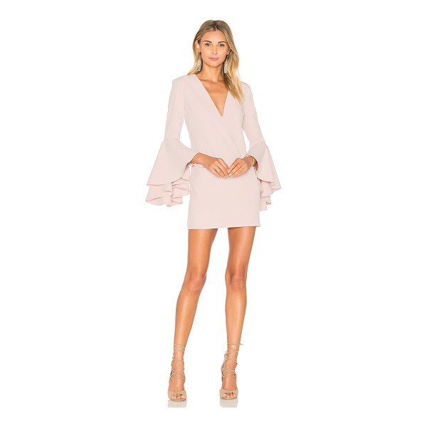 MILLY Nicole Dress - Poly blend. Dry clean only. Fully lined. Flared sleeves....