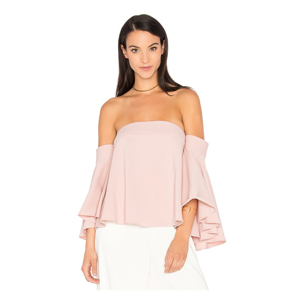 MILLY Rosa Top - Poly blend. Dry clean only. Flared sleeves. Hidden back...
