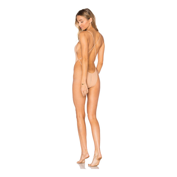 MINIMALE ANIMALE Oasis One Piece Swimsuit - Nylon blend. Hand wash cold. Stretch fit. Adjustable...