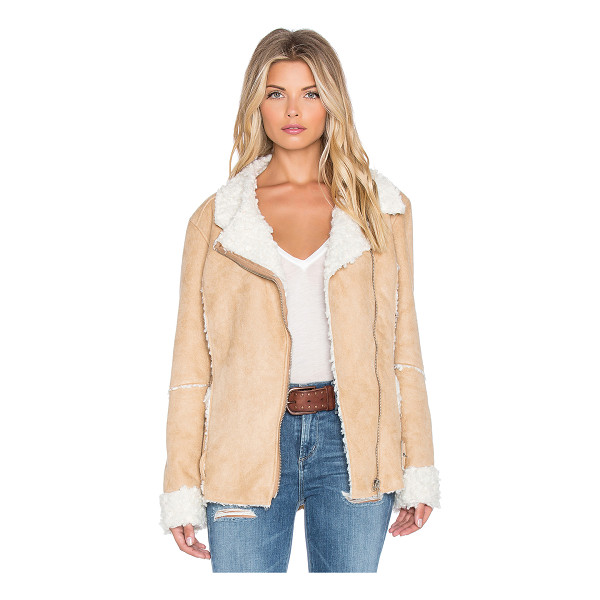 MINKPINK Believe again faux fur jacket - 100% poly. Dry clean only. Zip front closure. Faux fur...