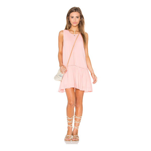 MINKPINK Blushing Beach Dress - Cotton blend. Hand wash cold. Fully lined. Pleated fabric...