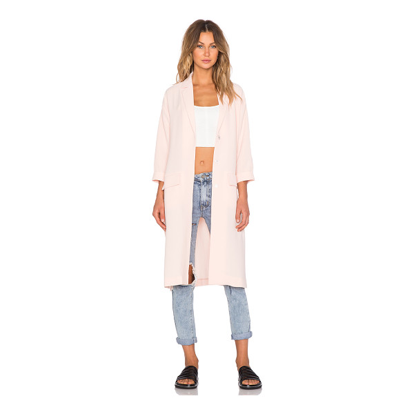MINKPINK Politley pink duster jacket - Poly blend. Dry clean only. Button front closure. Front...