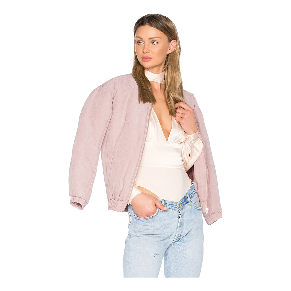 MINKPINK Puffer Bomber Jacket - 100% poly. Zip front closure. Side welt pockets. Banded...