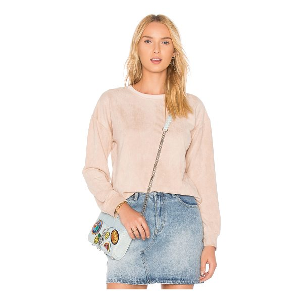 MINKPINK Suede Sweater - Self: 92% poly 8% elastaneContrast: 95% poly 5% elastane....