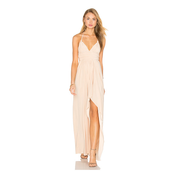 "MISA Ever Maxi Dress - ""96% poly 4% spandex. Dry clean only. Unlined. Braided..."