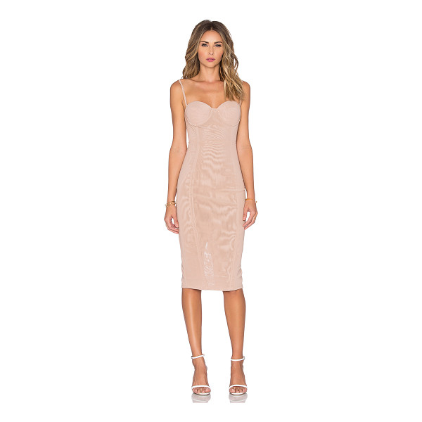 MISHA COLLECTION Adreanna dress in - 89% poly 11% spandex. Dry clean only. Unlined. Back hidden...