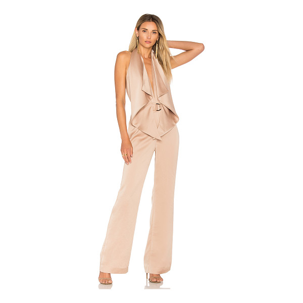 "MISHA COLLECTION Bailey Jumpsuit - ""Poly blend. Dry clean only. Halter neckline with button..."