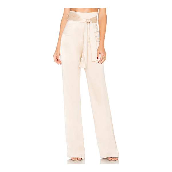 MISHA COLLECTION Flavanor Silk Pant - 100% silk. Dry clean only. Waist tie. Hidden back zipper