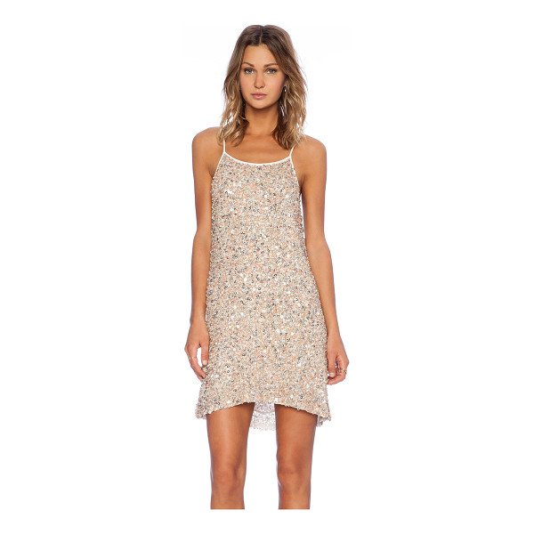 MLV Gina hoop sequin dress - Poly blend. Dry clean only. Neckline to hem measures approx...