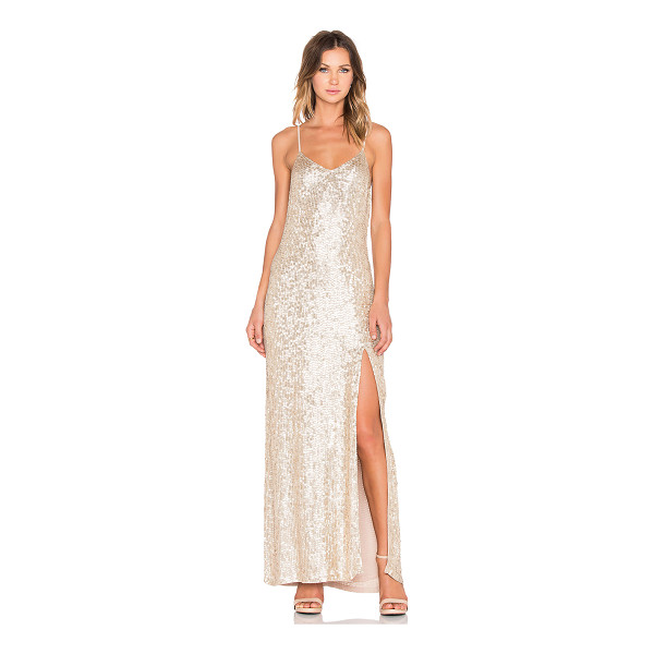 MLV London sequin maxi dress - Poly blend. Dry clean only. Fully lined. Adjustable...