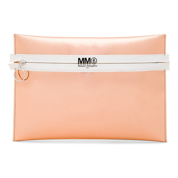 MM6 MAISON MARGIELA Clutch - Metallic coated poly exterior with poly fabric lining.