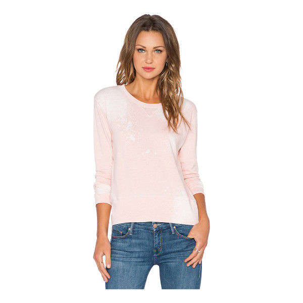 MONROW Bleach out crew neck sweatshirt - 50% poly 25% cotton 25% rayon. Intentionally destroyed...