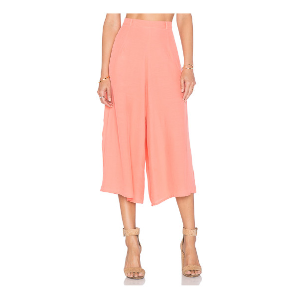 """MOTEL Giani culotte pant - 100% viscose. Hand wash cold. 26"""""""" at the knee breaks to..."""
