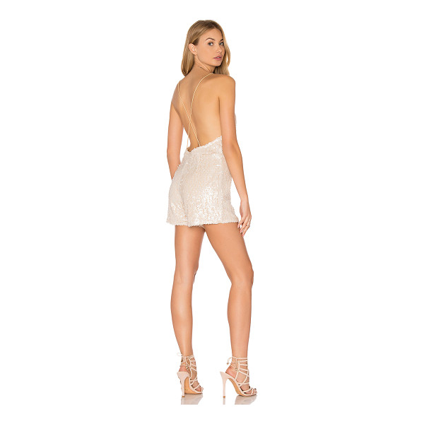 MOTEL Vanille Romper - Self & Lining: 100% poly. Hand wash cold. Sequined...