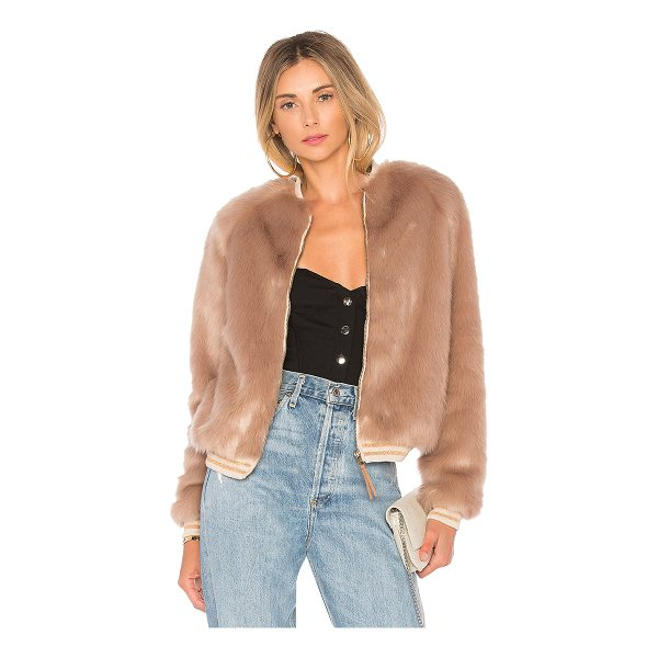 MOTHER The Letterman Faux Fur Jacket - Faux Fur: 100% modacrylicBacking & Lining: 100% poly. Dry...