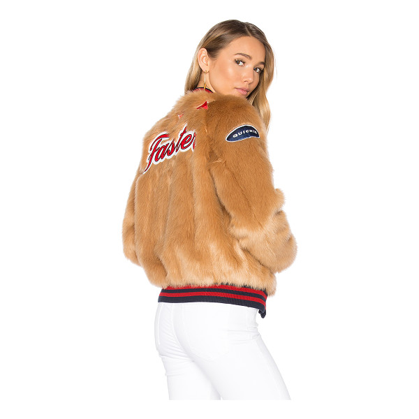 MOTHER The Letterman Patch Faux Fur Jacket - He can keep his old varsity jacket. Yours is better. The...