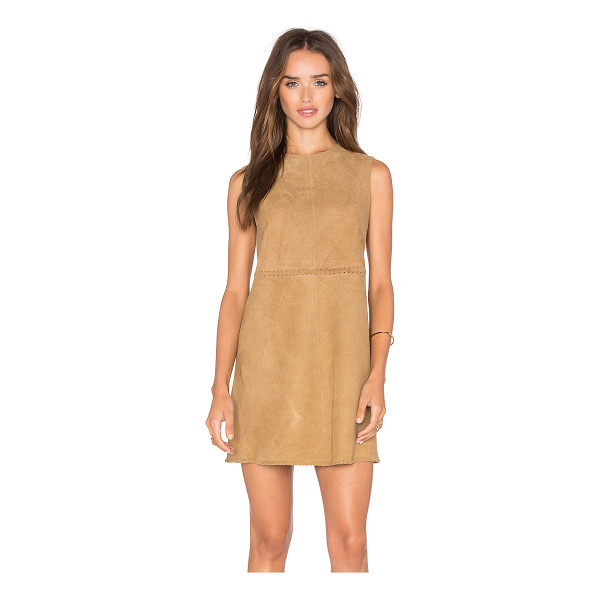 MUUBAA Emden shift dress - 100% goat suede. Professional leather clean only. Unlined....