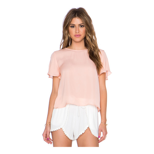 MYNE Sand crop top - 100% silk. Dry clean only. MYNE-WS118. SAND. With its...