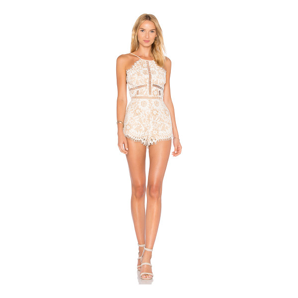 "NBD Alijah Romper - ""All lace, all night long. The Alijah Romber by NBD is cut..."
