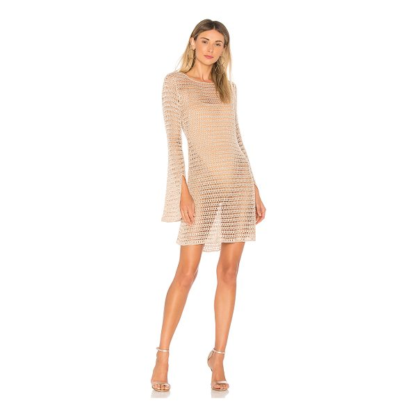 NBD Lucy Dress - 95% rayon 5% poly 1% metallic. Unlined. Semi-sheer knit...