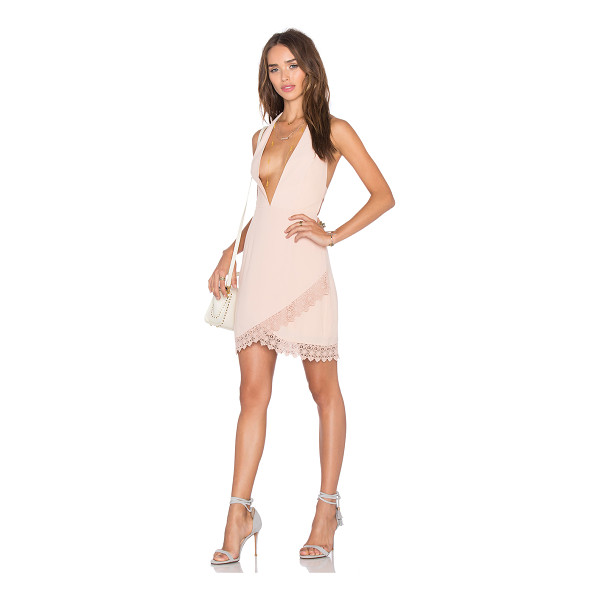 NBD x Naven Twins Lover Of Mine Plunging Mini Dress - Poly blend. Fully lined. Exposed back zipper closure....