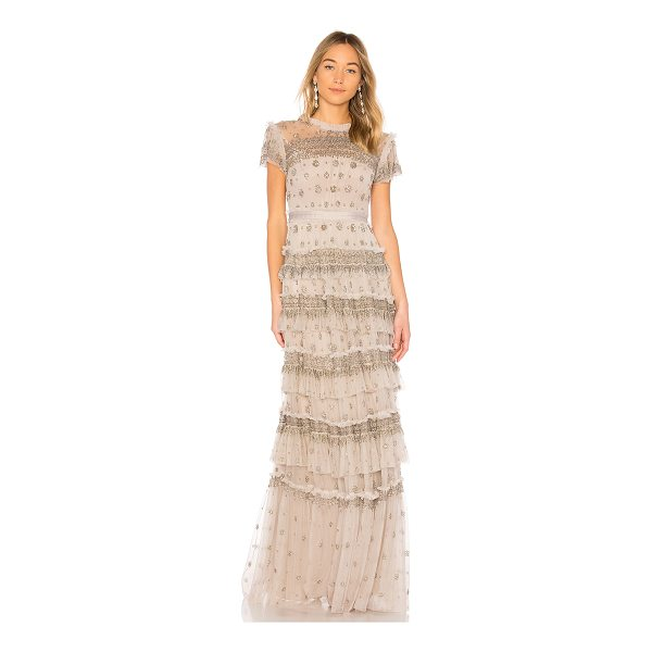 NEEDLE & THREAD Andromeda Gown - Self: 100% nylonLining: 100% poly. Dry clean only. Fully...