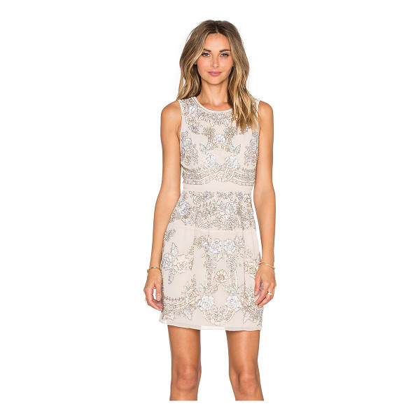 NEEDLE & THREAD Etch lace mini dress - Self & Lining: 100% poly. Dry clean only. Fully lined....