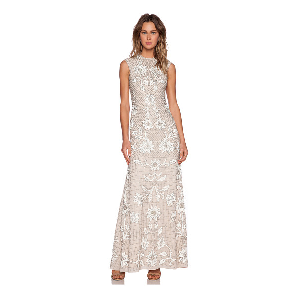 NEEDLE & THREAD Floral mesh sequin gown - Self & Lining: 100% poly. Dry clean only. Fully lined....