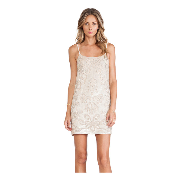 NEEDLE & THREAD Gloss lace mini dress - Self & Lining: 100% poly. Dry clean only. Neckline to hem...