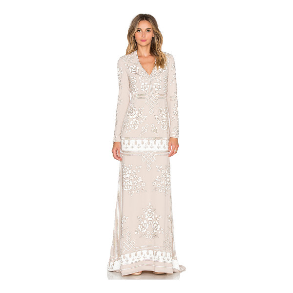 NEEDLE & THREAD Graphic Rose Gown - Self & Lining: 100% poly. Dry clean only. Fully lined....