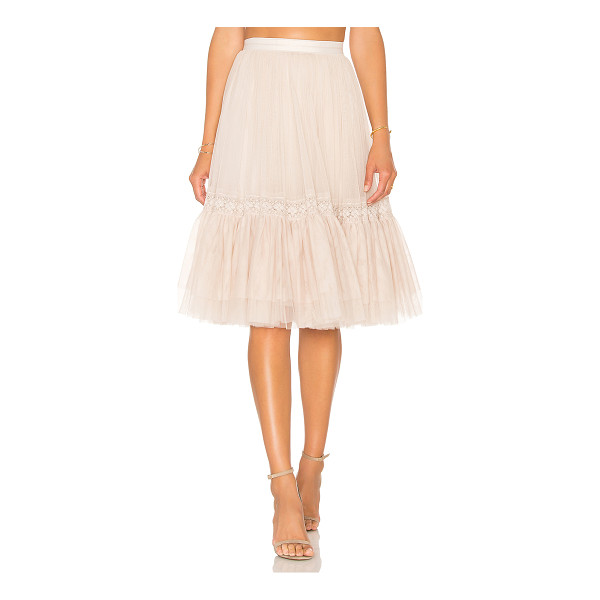 NEEDLE & THREAD Lace Tulle Skirt - Self: 100% nylonContrast: 93% cotton 7% nylonLining: 100%...