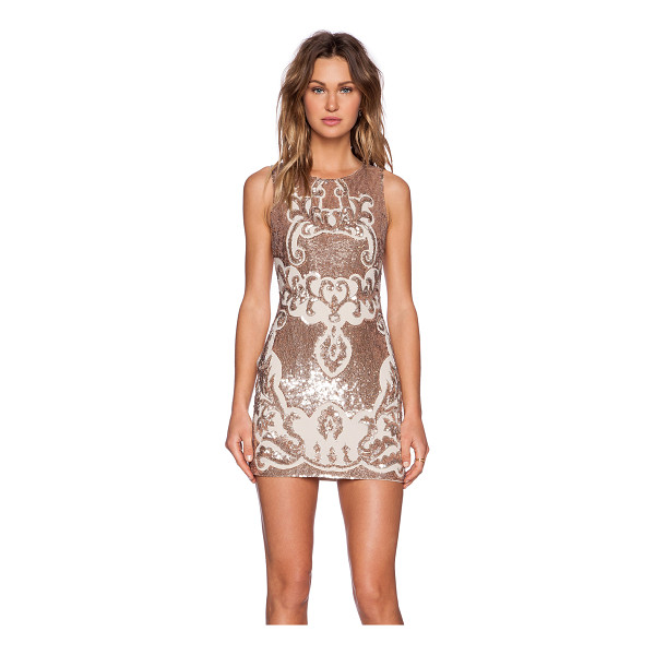 NEEDLE & THREAD Motif sequin dress - Self & Lining: 100% poly. Dry clean only. Fully lined....